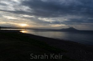 Sunset towards Tavarvur