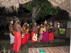 Musical entertainment one night in Kokopo