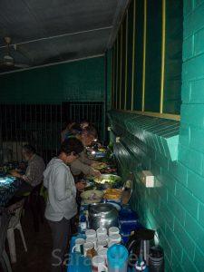 Salamaua - dinner is served, local food