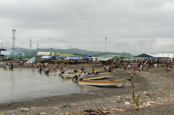 Lae small boat port