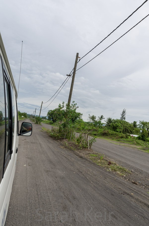 Rabaul, road under volcanic ash